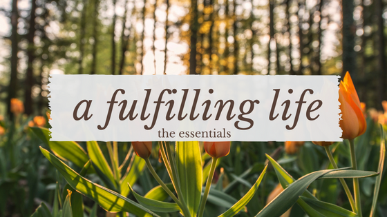 The Essential Elements to a Fulfilling Life